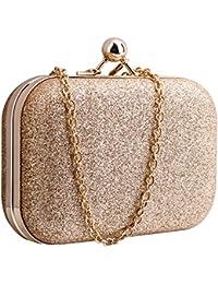 Sasairy Donna Bling borsa da sera pochette borsa da matrimonio ballo catena  Mini Zaino regalo di compleanno Valentino Oro Lilla Blu chiaro… 8490aaabd21