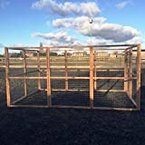 4wire DOG RUN ANIMAL ENCLOSURE 12ft x 8ft & 6ft high 16G Wire Chicken Rabbits Dogs Cats Birds Puppy Fox Proof