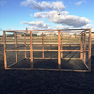 4wire DOG RUN ANIMAL ENCLOSURE 12ft x 8ft & 6ft high 16G Wire Chicken Rabbits Dogs Cats Birds Puppy Fox Proof 61CTUEqInrL