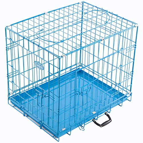 "Easipet Blue Metal Dog Cages In 5 Sizes (42"" XX-Large)"