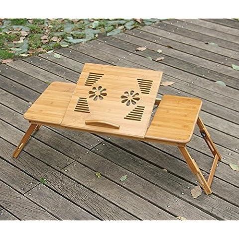 LLYY-Scrittorio del computer portatile di bambù doppia del mouse pad escursioni semplici cassetto