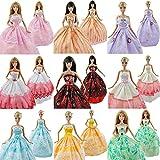 Asiv® 5Pcs À la main Mode Mariage Faire la Fête Robes pour Barbie Poupée pour Fille Anniversaire Cadeau