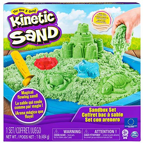 Kinetic Sand 6029059 - Kinetic Sand Box, grün
