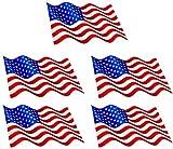 5 x Mini Aufkleber Aufkleber der USA wehend Flaggen Sticker Autoaufkleber