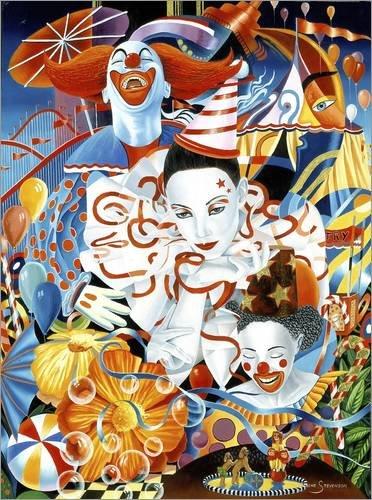 Posterlounge Hartschaumbild 30 x 40 cm: Ich Bin EIN Clown von Graeme Stevenson/MGL Licensing