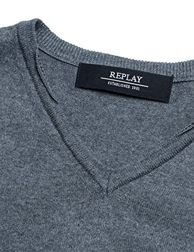 Replay Herren Pullover Grau (Grey Medium Melange M04)