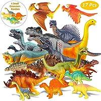 Estela Juego de Dinosaurios, 17 PCS Dinosaurios de Juguete, Dinosaurio Jurásico Mundo Dinosaurio de
