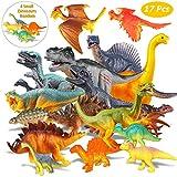 Estela Dinosaur Set,17 PCS Realistische Figur Modell, Spielzeug Kindergeburtstag Party Dekoration,Die Vier Kleinen Dinosaurier IST zufällig