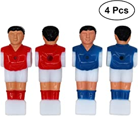 TOYMYTOY 4PCS Table Soccer Men Mini Football Player Replacement Parts for 1.4M Table Football (2pcs Red and 2pcs Blue)