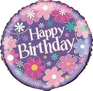 Partido Ênico de 18 pulgadas Foil cumpleaños Flor Globo de helio