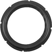 Anelli surround per altoparlanti in gomma perforata da 10 pollici (nero) per riparazione altoparlanti o fai da te (1 pz)