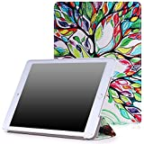 MoKo iPad Air 2 Funda - Ultra Slim Lightweight Función de Soporte Protectora Plegable Smart Cover Durable para Apple iPad Air 2 (iPad 6) 9.7 Pulgadas Tableta, Lucky Tree (Auto Sueño / Estela)