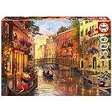 Educa Borrás - 17124.0 - Puzzle -  Coucher de Soleil A Venise - 1500 Pièces