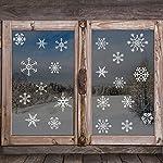 Kuuqa 4 pezzi Natale fiocchi di neve Adesivi in PVC Decorazione finestra di Natale Adesivi decalcomania Articoli per feste di Natale