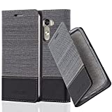 Cadorabo Book Case works with LG G3 in GREY BLACK - with