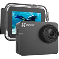 """EZVIZ Action Camera 1080p 60fps 8MP 131ft Waterproof 2"""" Touch Screen Interface On Dash Cam 150° Wide Angle Low-Light…"""