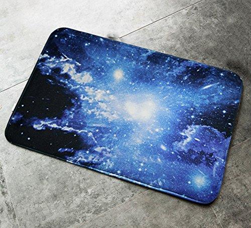 zebrasmile Cosmos Starry Sky Diele Tür Teppich Diele Tür Teppich für WC vor Fußmatte Home Eingang Tür Teppich Indoor Teppich Eintrag Fußmatte Innen Teppich Anti-Rutsch Rückseite Fußmatte, Flanell, Color 06, 15.7 X 23.6IN / 40 X 60 CM
