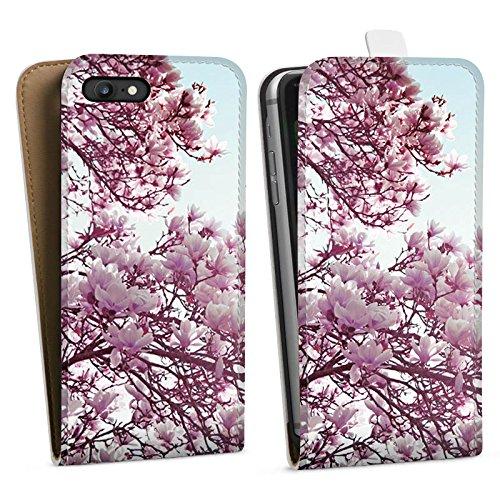 Apple iPhone X Silikon Hülle Case Schutzhülle Blätter Blüten Frühling Downflip Tasche weiß