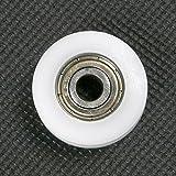 ATOPLEE 4pcs Runde Groove Nylon Pulley Räder Rollen für Schieber/Winkel Bar/Schubladen, 8x30x10mm