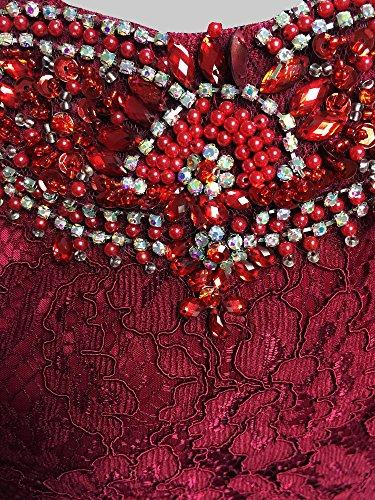 SEXYHER Charme Burgund Spitze bedeckte Friesen lange Abend-Abendkleid - EDY8028 Burgundy-5B