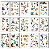 SZSMART Tatuaggi temporanei per Bambini, Falso Tatuaggio temporaneo Circo Adesivi Giocattolo Gadget per Bambini Festa di Compleanno Regalo, 15 Fogli