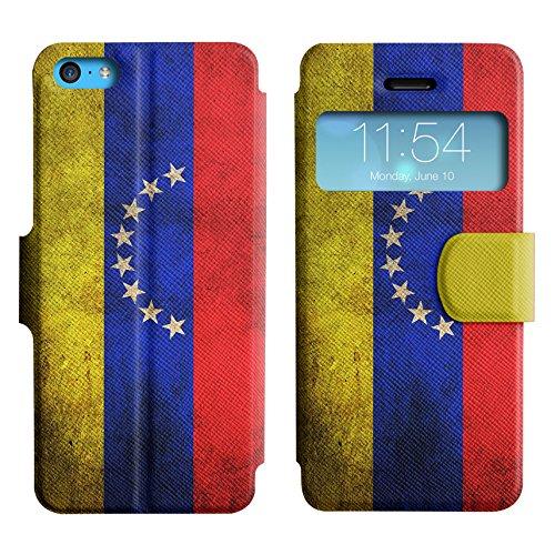 Graphic4You Vintage Uralt Flagge Von Mexiko Mexikanisch Design Leder Schützende Display-Klappe Brieftasche Hülle Case Tasche Schutzhülle für Apple iPhone 5C Venezuela Venezolanisch