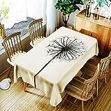 Rectangle Polyester Cotton Table Cloth,3D Druck Löwenzahn Muster Table Cloth, Für Zu Hause Wasserbeständigkeit Kann Abwischen Mehrzweck-Innen- Und Außen Tischdecken (Mehrere Größen),A,150*300Cm