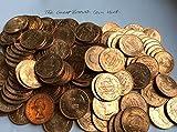 hors-circulation 1967 demi-penny REINE ELIZABETH 2nd doré hind bateau inverse 1/2p hors-circulation