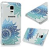 Funda para Samsung Galaxy Note 4 - Lanveni Elegante Carcasa Rigida PC ultra delgada para Samsung Galaxy Note 4 Pintura translúcido Protective Case Cover - Patrón Tótem diagonal Diseño