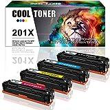 4 Packs Cool Toner Kompatibel für HP 201X CF400X CF401X CF402X CF403X für Toner HP Color Laserjet Pro MFP M277DW Toner MFP M277dw HP Color Laserjet Pro M252dw M252n HP M277 M252 HP MFP M277n M274n