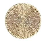 Langlebige natürliche runde Rattan Tischsets Isolierauflage, natürliche Farbe, 25CM