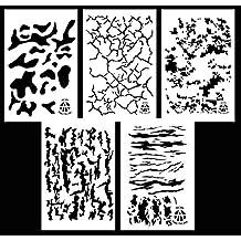 Ácido táctica 5unidades–35cm), diseño de camuflaje, color marrón aerógrafo pistola de spray de pintura plantillas–Duracoat pato barco, diseño de camuflaje, diseño de camuflaje Digital camuflaje + de rayas de tigre