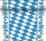 Duni Tête-à-Tête-Tischläufer aus Dunicel alle 120 cm perforiert, Motiv Bayerische Raute, 40 x 2400 cm