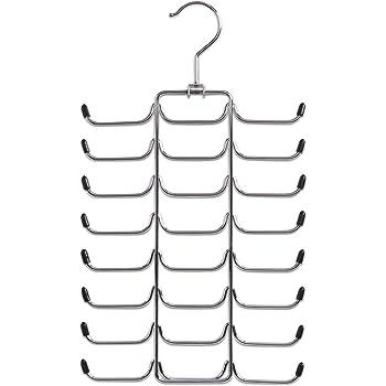 Tebery Hochwertiger Krawattenhalter aus Holz f/ür 24 Krawatten 2St/ück