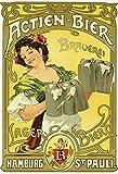 Actien Bier Brauerei Hamburg St Pauli schild aus blech, metal sign, tin
