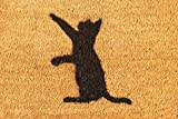 CKB Ltd® CAT Novelty DOORMAT Unique Doormats Front / Back Funny Door Mats Made with a non-slip PVC backing - Natural coir - Indoor & Outdoor
