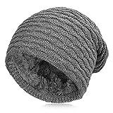 Vbiger Beanie Uniesex Mütze Strickmütze Skimütze Beanie Mütze Warme Mütze Winter Mütze mit Fleecefutter