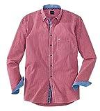 OLYMP Hemd Trachtenhemd Casual Modern Fit Rot, Größe S