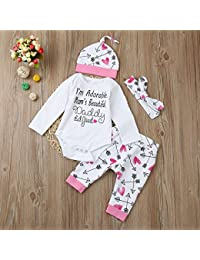 Amazon.es: conjuntos bebes primera puesta - Niñas de hasta 24 meses / Bebé: Ropa