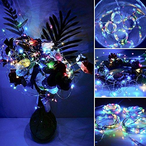 【10 pezzi】 SiFar 20 LED 2M Mini Lampada a fili di rame Multicolore, Luci stringa LED Luci d'atmosfera Bottiglia di vino, Luci stellate alimentate a batteria per bottiglie Fai da te, feste - 4