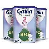 Laboratoire Gallia Calisma 2 BIO, Lait en poudre pour bébé Bio, De 6 à 12 Mois, 800g (Packx3)