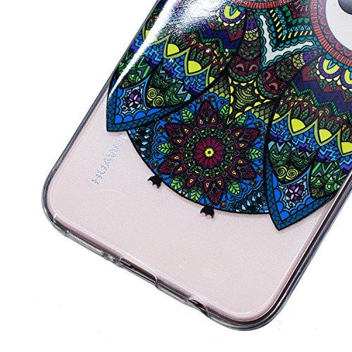 Coque Huawei P20 Lite, Étui Huawei P20 Lite, Surakey Huawei P20 Lite Coque Transparente Silicone avec Dessin Beau Souple TPU Housse Etui avec Absorption de Choc Bumper Imprimé Coloré Plume Fleur Panda Motif Etui de Protection Cas en Gel Caoutchouc Ultra Mince Crystal Clear Flex Soft Cover Case Skin Arriere Extra Slim Téléphone Couverture TPU Coque Housse Étui pour Huawei P20 Lite (Hibou)