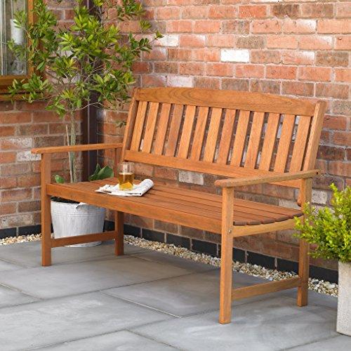 Kingfisher 3 Seater Hardwood Garden Patio Bench