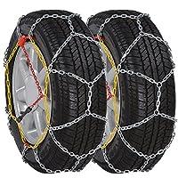 Queste catene da neve possono essere usate per trazione supplementare in condizioni di neve o ghiaccio. Sono progettate per assicurare ai tuoi pneumatici l'aderenza necessaria quando fa brutto tempo! Le catene da neve possono essere mo...