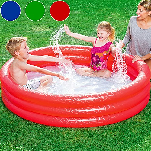Bestway Planschbecken Embossing Kinder Pool Schwimmbecken Swimmingpool Pool 183x33cm blau
