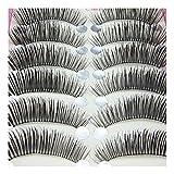 Bluelans® 10 Paar Lange Falsche künstliche Wimpern Dicke Schwarz Eyelasches