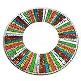 indonesischem Mosaik–2x Classic Rund Rainbow Mosaik Spiegel Bunte Geschenke AW