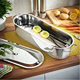 VonShef Stainless Steel Fish Poacher Steamer Pan Kettle 18