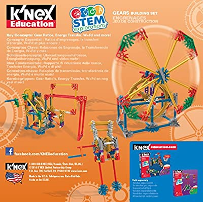 K'NEX Education STEM Explorations Gears Building Set for Ages 8 and Up Engineering Educational Toy, 143 Parts