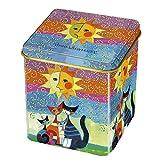Fridolin 19351Wachtmeister Momenti di félicita Tee-Box, Metall, mehrfarbig, 8x 6,8x 6,8cm